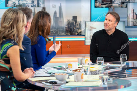 Piers Morgan and Susanna Reid with Paul Merson