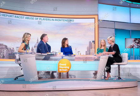Charlotte Hawkins, Piers Morgan, Susanna Reid, Sonia Poulton and Amy Nickell