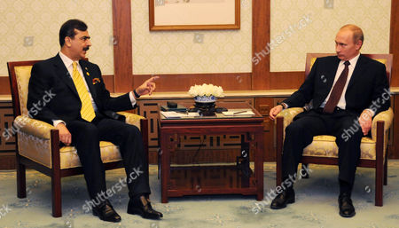Editorial picture of Pakistan Prime Minister Syed Yusuf Raza Gillani meets Russian Prime Minister Vladimir Putin in Beijing, China - 14 Oct 2009