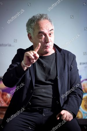 Famous Spanish chef Ferran Adria delivers a speech during an online exhibition focused on Spanish gastronomy at Barcelo's Market, in Madrid, Spain, 26 March 2019. The gastronomy exhibition, organized by Google Arts and Culture and Royal Spanish Gastronomy Academy, is the most ever complete event of its kind organized in Spain.