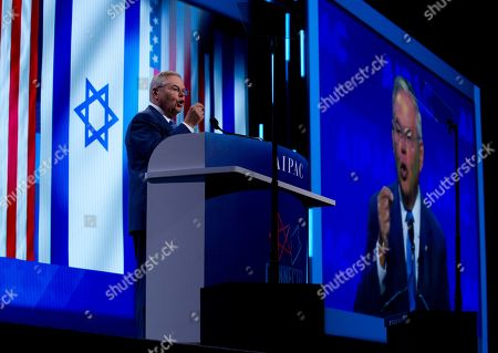 Sen. Bob Menendez, D-N.J. speaks at the 2019 American Israel Public Affairs Committee (AIPAC) policy conference, at Washington Convention Center, in Washington