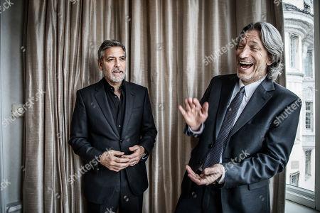 Stock Picture of George Clooney, John Prendergast