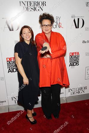 Dawn Roberson (National Events Director, DIFFA), Cindy Allen (Interior Design's editor-in-chief)