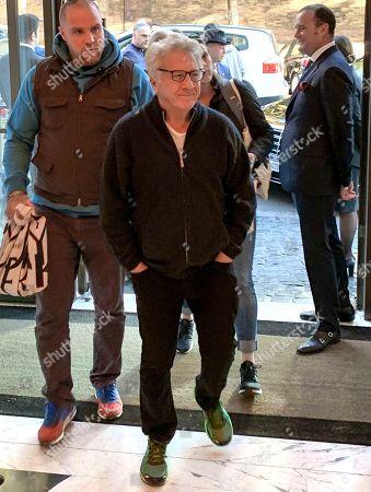Dustin Hoffman arrives at Hotel Eden