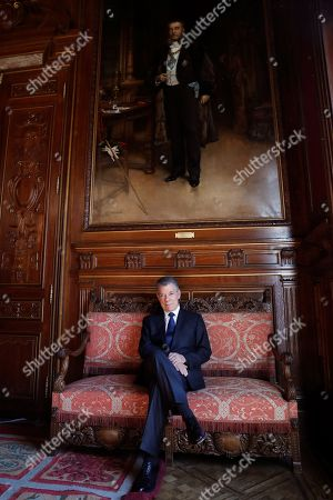 Former president of Colombia Juan Manuel Santos poses for the photographers during an interview to Spanish News Agency EFE held in Madrid, Spain, 26 March 2019. Santos presents his book 'La batalla por la paz' (lit. The battle for the peace) in Madrid.