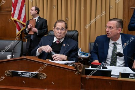 Jerrold Nadler, Doug Collins. House Judiciary Committee Chairman Jerrold Nadler, D-N.Y., joined by Ranking Member Doug Collins, R-Ga., right, presides at a meeting directing the attorney general to transmit documents to the House of Representatives relating to the actions of former Acting FBI Director Andrew McCabe, on Capitol Hill in Washington, . After special counsel Robert Mueller's report was finished, Nadler says Congress must have the opportunity to evaluate the underlying evidence