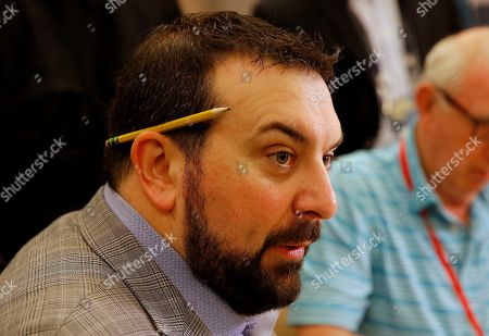 Detroit Lions head coach Matt Patricia speaks to the media during the NFC/AFC coaches breakfast during the annual NFL football owners meetings, in Phoenix