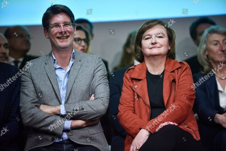 Candidate for the European elections Pascal Canfin and French Member of the La Republique En Marche (LaREM) party and candidate for the European elections Nathalie Loiseau attend during the European elections campaign meeting in Paris, France, 26 March 2019. The European Parliament elections will be held between 23 and 26 May 2019.