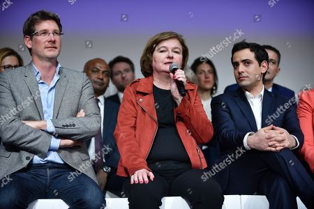 Candidate for the European elections Pascal Canfin, French Member of the La Republique En Marche (LaREM) party and candidate for the European elections Nathalie Loiseau and director of European campaign for the La Republique En Marche (LaREM) party Stephane Sejourne attends during the European elections campaign meeting in Paris, France, 26 March 2019. The European Parliament elections will be held between 23 and 26 May 2019.