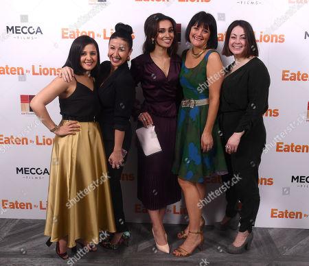 Natalie Davies, Hayley Tamaddon, Shila Iqbal, Hannah Stevenson and Sarah Hoare