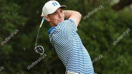 Evan Katz of Duke hits a tee shot during the Valspar Collegiate Invitational at the Floridian, in Palm City, Fla