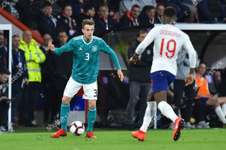 Lucas Klunter of Germany U21's during the U21 International match between England and Germany at the Vitality Stadium, Bournemouth