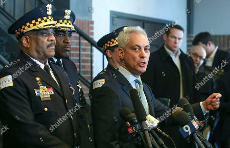 "Rahm Emanuel, Eddie Johnson. Chicago Mayor Rahm Emanuel, right, and Chicago Police Superintendent Eddie Johnson appear at a news conference in Chicago, after prosecutors abruptly dropped all charges against ""Empire"" actor Jussie Smollett, abandoning the case barely five weeks after he was accused of lying to police about being the target of a racist, anti-gay attack in downtown Chicago. The mayor and police chief blasted the decision and stood by the investigation that concluded Smollett staged a hoax"