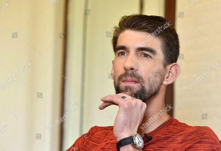 Former Olympic swimmer Michael Phelps during an interview at ITC Maurya Hotel.