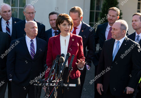 Editorial picture of Republican members of Congress press conference, Washington DC, USA - 26 Mar 2019