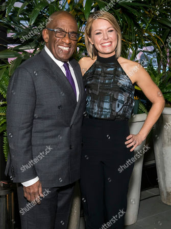 """Dylan Dreyer, Al Roker. Al Roker and Dylan Dreyer attend """"A Toast to Kathie Lee"""" the Kathie Lee Gifford farewell party at The Times Square Edition, in New York"""