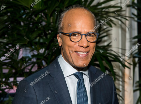 """Lester Holt attends """"A Toast to Kathie Lee,"""" the Kathie Lee Gifford farewell party at The Times Square Edition, in New York"""