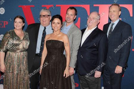 Amy Gravitt, David Mandel, Julia Louis-Dreyfus, Casey Bloys, Frank Rich and Bob Greenblatt