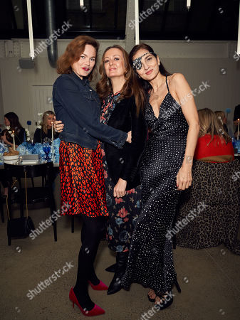 Stock Image of Jasmine Guinness, Lucy Yeomans and Guest