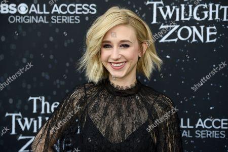 "Taissa Farmiga arrives at the Los Angeles premiere of ""The Twilight Zone"" at Harmony Gold on"