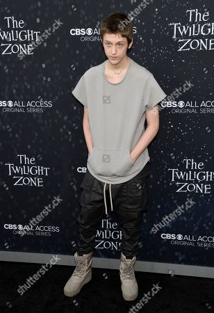 "Stock Picture of Percy Hynes-White arrives at the Los Angeles premiere of ""The Twilight Zone"" at Harmony Gold on"