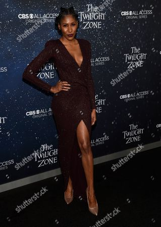 """Diarra Kilpatrick arrives at the Los Angeles premiere of """"The Twilight Zone"""" at Harmony Gold on"""