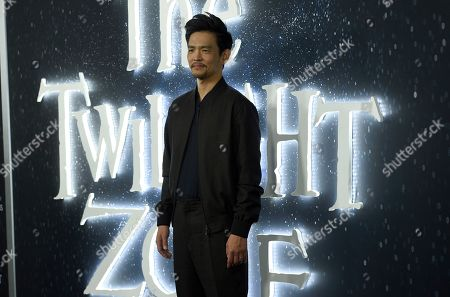 """John Cho arrives at the Los Angeles premiere of """"The Twilight Zone"""" at Harmony Gold on"""