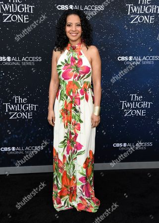 """Zabryna Guevara arrives at the Los Angeles premiere of """"The Twilight Zone"""" at Harmony Gold on"""