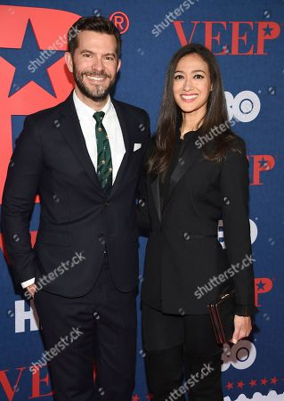 """Peter Huyck and guest attend the premiere of the final season of HBO's """"Veep"""" at Alice Tully Hall, in New York"""