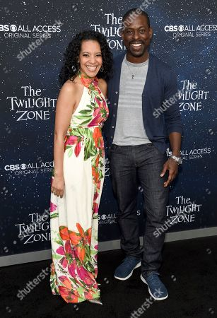 """Zabryna Guevara, Sterling K. Brown. Zabryna Guevara, left, and Sterling K. Brown arrive at the Los Angeles premiere of """"The Twilight Zone"""" at Harmony Gold on"""