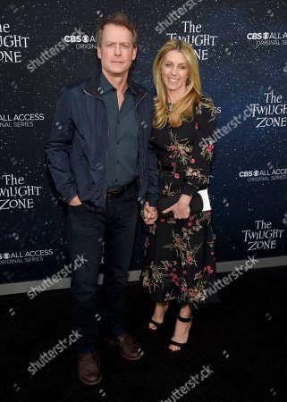 "Greg Kinnear, Helen Labdon. Greg Kinnear, left, and Helen Labdon arrive at the Los Angeles premiere of ""The Twilight Zone"" at Harmony Gold on"