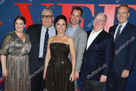 Stock Image of Amy Gravitt, David Mandel, Julia Louis-Dreyfus, Casey Bloys, Frank Rich and Bob Greenblatt