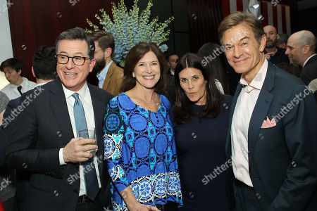 Stephen Colbert, Evelyn Mcgee-Colbert, Lisa Oz and Dr. Dr Mehmet Oz