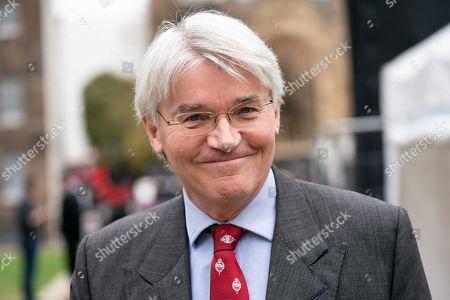 Andrew Mitchell MP poses for a photo in College Green, Westminster after appearing on a television interview this morning. Later today MPs are expected to vote on a series of indicative votes on alternative proposals to British Prime Minister Theresa May's withdrawal agreement.