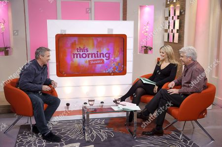 Steven Pinder with Phillip Schofield and Holly Willoughby.