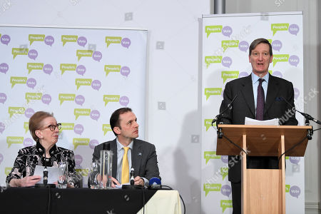 Margaret Beckett, Stephen Gethins and Dominic Grieve at a People's Vote Press Conference