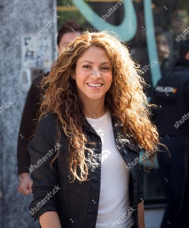 Colombian singer and defendant Shakira leaves the Number 12 Commercial Court after testifying in the first day of a trial of alleged plagiarism, in Madrid, Spain, 27 March 2019. Cuban singer Livan Castellano Valdes (unseen) sued her for allegedly plagiarizing some extracts of his song 'Yo te quiero tanto' (lit. 'I Love You So Much') from 1997 in Shakira's song 'La bicicleta' (The bicycle) featuring Colombian singer Carlos Vives.