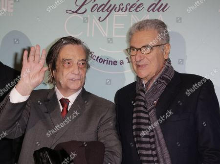 Jean-Pierre Leaud and Serge Toubiana