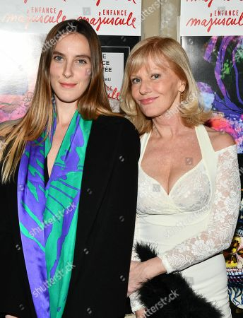 Elisa Servier and daughter Manon