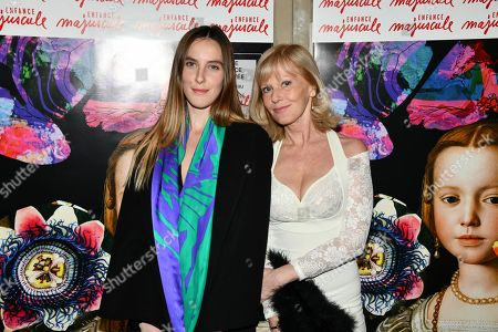 Stock Photo of Elisa Servier and daughter Manon
