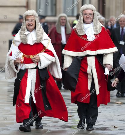 Igor Judge, The Lord Justice of England and Wales (left)