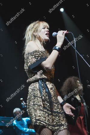 Editorial image of Nouvelle Vague in concert at the Roundhouse, London, Britain - 16 Oct 2009