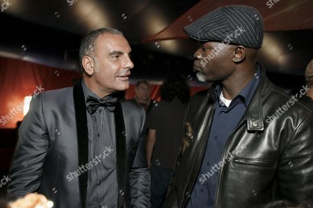Christian Audigier and Djimon Hounsou