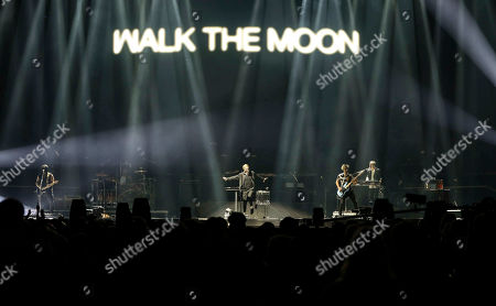 Nicholas Petricca, Kevin Ray, Sean Waugaman, Eli Maiman. Nicholas Petricca, Kevin Ray, Sean Waugaman and Eli Maiman with Walk the Moon performs as the opener for Muse at State Farm Arena, in Atlanta