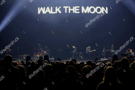 Stock Picture of Nicholas Petricca, Kevin Ray, Sean Waugaman, Eli Maiman. Nicholas Petricca, Kevin Ray, Sean Waugaman and Eli Maiman with Walk the Moon performs as the opener for Muse at State Farm Arena, in Atlanta