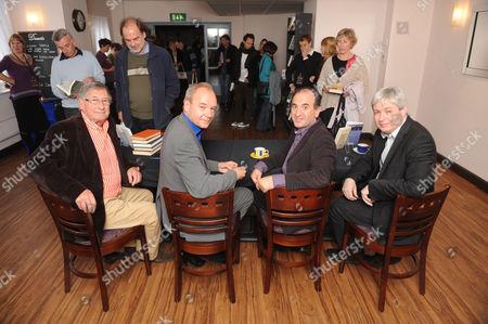 David Nobbs,  John O'Farrell, Armando Iannucci and Jonathan Coe
