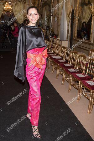 Editorial picture of Hannibal Laguna wedding show, Atelier Couture fashion days, Fernando Nunez palace, Madrid, Spain - 27 Mar 2019