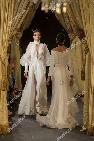 Editorial photo of Hannibal Laguna wedding show, Atelier Couture fashion days, Fernando Nunez palace, Madrid, Spain - 27 Mar 2019