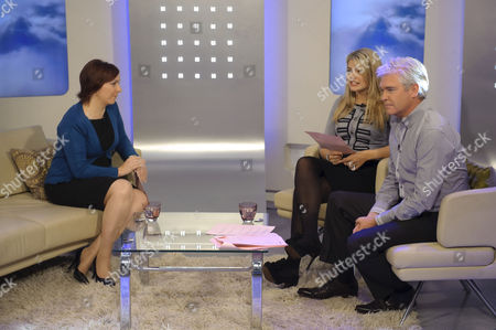 Delphi Ellis with Holly Willoughby and Phillip Schofield.