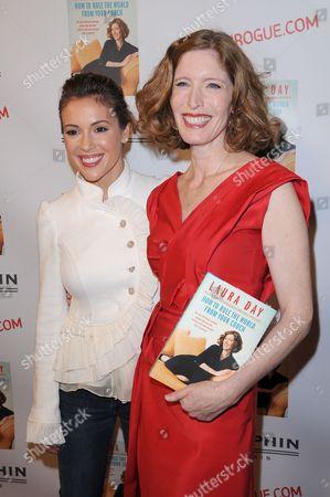 Alyssa Milano and Laura Day